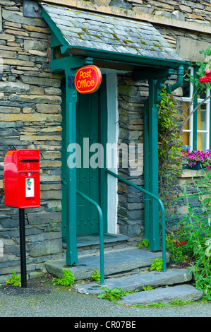 Quaint local post office and village shop at Troutbeck in the Lake District National Park, Cumbria, UK - Stock Photo