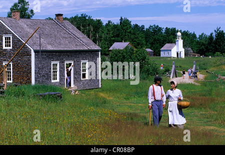Canada, New Brunswick, Caraquet Acadian historical village - Stock Photo