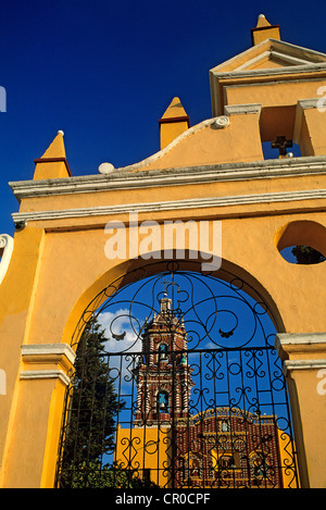 Mexico, Puebla State, Tonantzitla, Santa Maria Church - Stock Photo
