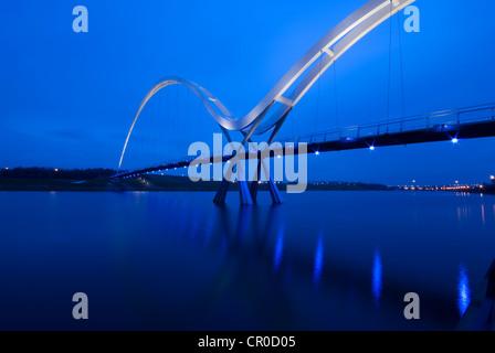 Infinity Bridge, Stockton on Tees, Cleveland. UK GB