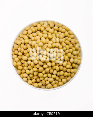 dried yellow soybeans - Stock Photo