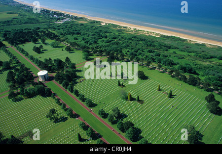 France, Manche, Colleville sur Mer, Omaha Beach, one of the beaches of the Normandy Landings during the Second World - Stock Photo