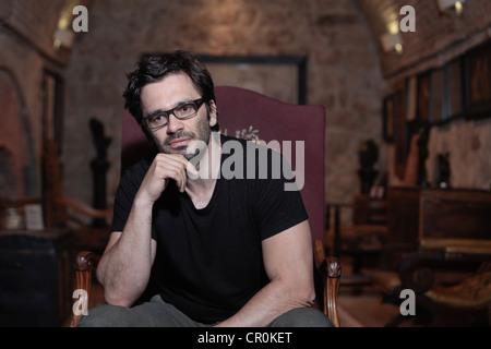 German  freelance journalist and writer Nicol Ljubić with Croatian origin. - Stock Photo