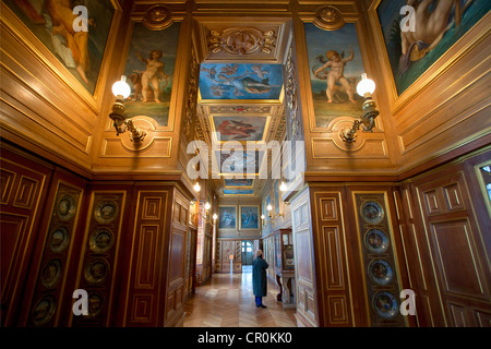 France, Seine et Marne, Fontainebleau, the Royal Castle UNESCO World Heritage, the Plates Gallery - Stock Photo