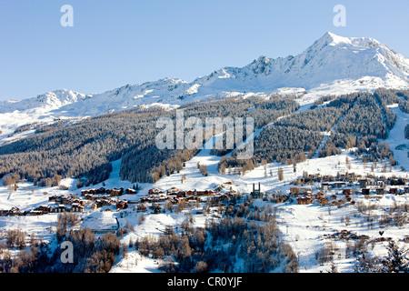 France, Savoie, Peisey Nancroix, paradiski - Stock Photo