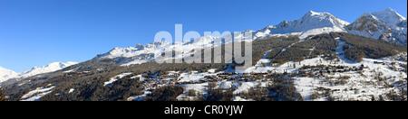 France, Savoie, Peisey Nancroix, paradiski, Aiguille Rouge 3226m - Stock Photo