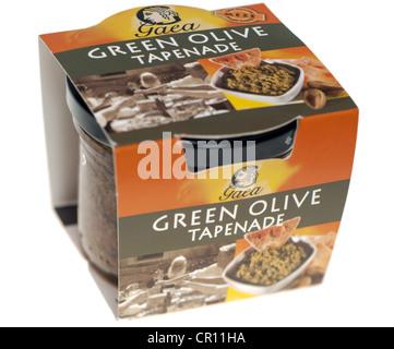 Jar of Gaea Green Olive Tapenade - Stock Photo