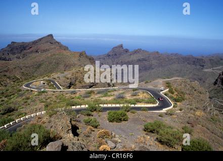 Spain, Canary Islands, Tenerife Island, Masca, gorges - Stock Photo