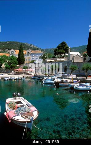 Croatia, Dalmatia, Dalmatian Coast, Brac Island, Bol - Stock Photo