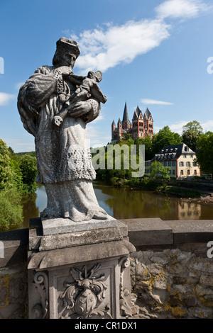 Limburg Cathedral, Limburg, Hesse, Germany, Europe - Stock Photo