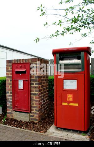 Royal mail pillar box - Stock Photo