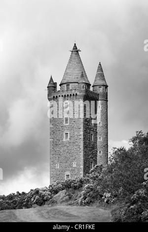 Scrabo Tower, Newtownards, County Down, Northern Ireland, United Kingdom, Europe, PublicGround - Stock Photo