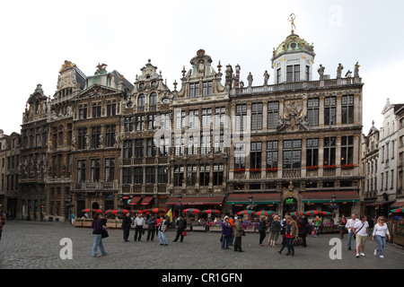 Belgium, Brussels, Grand, Place, square, buildings - Stock Photo