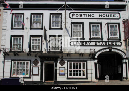 England Surrey Guildford high street Posting house Inn, Angel hotel - Stock Photo