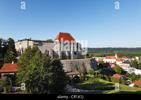 Burg Tittmoning Castle, Rupertiwinkel, Upper Bavaria, Bavaria, Germany, Europe, PublicGround - Stock Photo