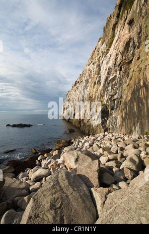 Cliffs of Jons Kapel near Hasle, Bornholm, Denmark, Europe - Stock Photo