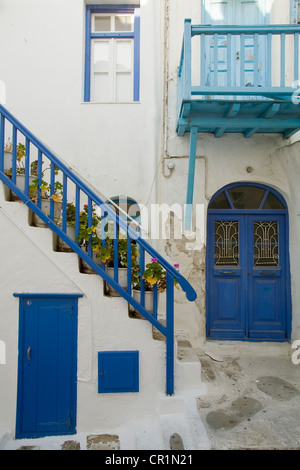 Greece, Cyclades, Mykonos Island, Chora, the old town - Stock Photo