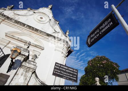 Dutch Reformed Church, Galle, Southern Province, Sri Lanka - Stock Photo