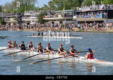 Oxford University Eights Week rowing races final day on the River Thames - Stock Photo