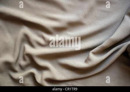 Drape background of gray crushed silk - Stock Photo