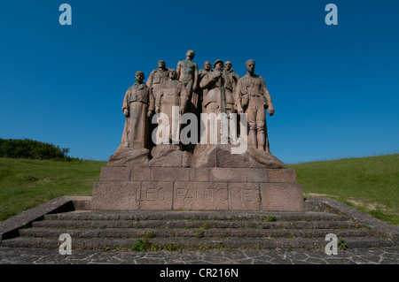 """The French National Memorial to the Second Battle of the Marne, """"Les Fantomes"""", """"The Ghosts"""", Butte de Chalmont, France."""