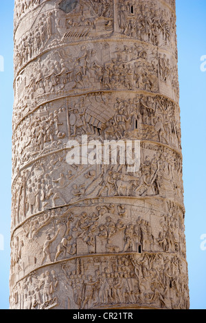Close up of Colonna Traiana in Rome - Stock Photo