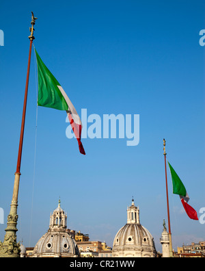 Italian flags and ornate domes - Stock Photo