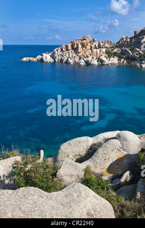 Rock formations on coastline - Stock Photo