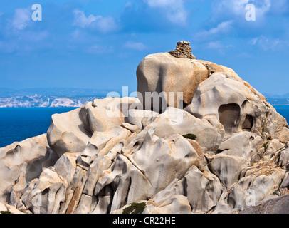 Rock formations on coastline - Stock Photo