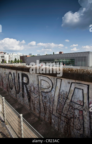 Graffiti on Berlin Wall - Stock Photo
