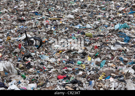 Landfill at garbage collection center - Stock Photo