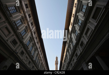 Low angle view of apartment buildings - Stock Photo