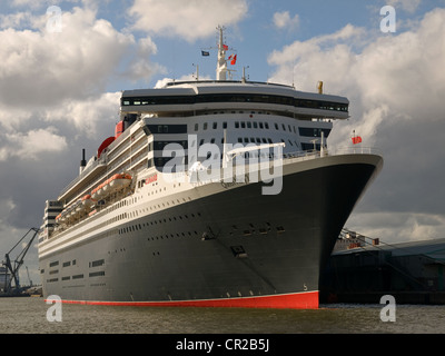 Cunard liner Queen Mary 2 berthed in Southampton England UK - Stock Photo