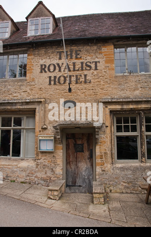 The Royalist Hotel, the oldest inn in England, Stow-on-the-Wold - Stock Photo