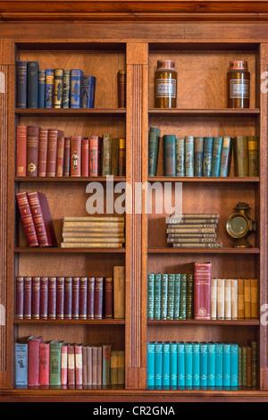Old character bookcase, UK. - Stock Photo
