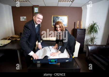 Bespoke Butler, Concierge, Housekeeper, London, UK - Stock Photo