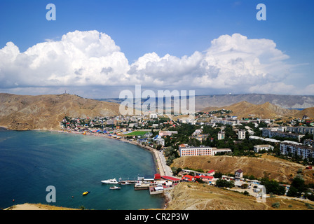 Ordzhonikidze, an urban settlement of Feodosiya, Crimea, Ukraine - Stock Photo