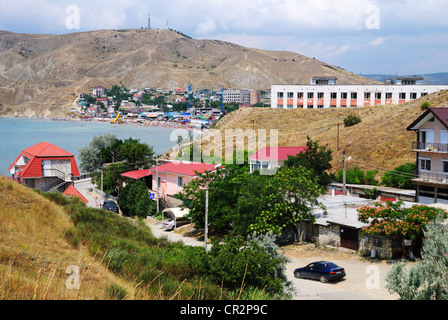 Ordzhonikidze (settlement of Feodosiya), Crimea, Ukraine - Stock Photo