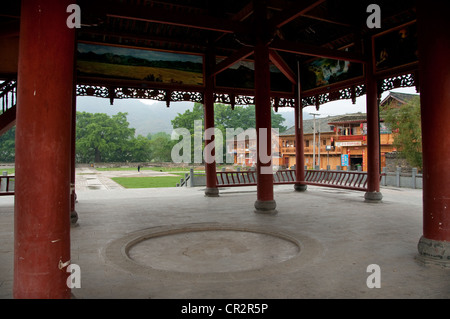 Main Drum Tower, Chejiang Dong Village, Southern China - Stock Photo