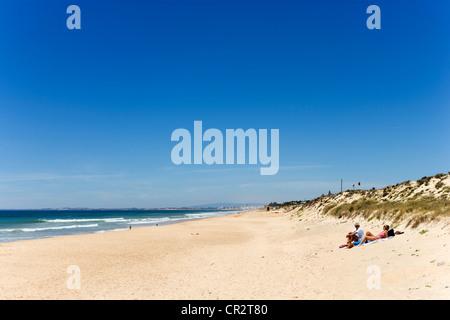 Praia do Ancao (Ancao Beach), near Quinta do Lago, Algarve, Portugal - Stock Photo