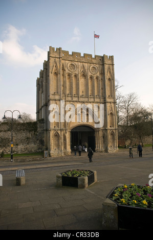 Abbeygate, Bury St Edmunds Abbey, Suffolk, UK - Stock Photo