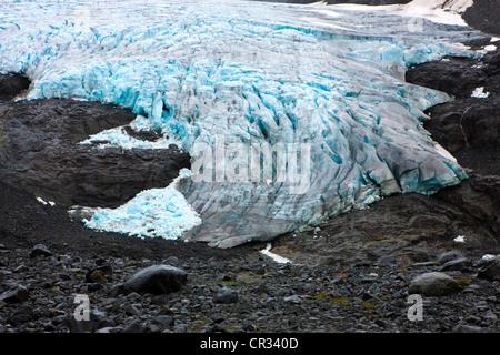 Glacier tounge, Norway, Scandinavia, Europe - Stock Photo