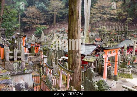 Japan, Honshu Island, Kinki Region, city of Kyoto, Fushimi Inari Sanctuary - Stock Photo