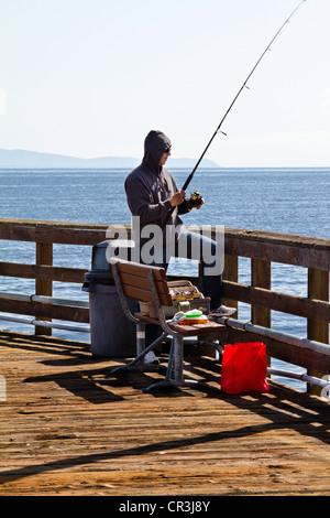 Goleta pier stock photo royalty free image 5727524 alamy for Free fishing piers near me