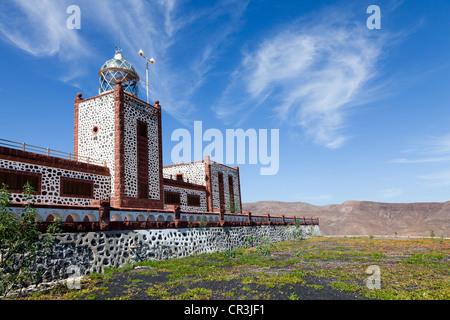 Lighthouse Faro Punta de la Entallada on the east coast of Fuerteventura, Canary Islands, Spain, Europe - Stock Photo
