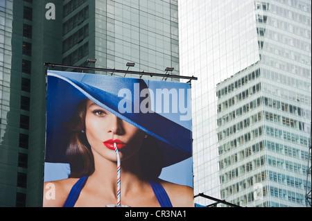 Advertising hoarding in Times Square, Manhattan, New York, USA - Stock Photo