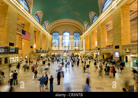 Central Station and people with motion blur, Manhattan, New York, USA, America - Stock Photo