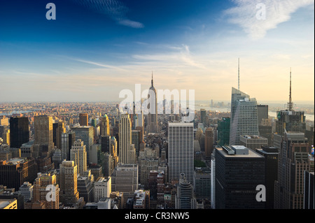 View of Manhattan from the Rockefeller Center, New York, USA - Stock Photo