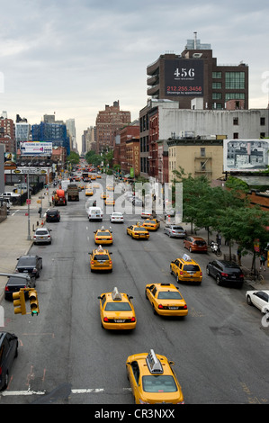 10th Avenue, Chelsea, Manhattan, New York, USA, America - Stock Photo