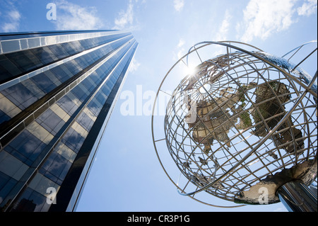 Trump Tower at Columbus Circle, Manhattan, New York, USA, America - Stock Photo